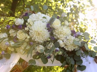 Lace and Peonies Floral Design 1