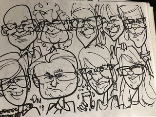 Adam Pate's 60 Second Strolling Speed Sketchers Caricatures and Entertainment 2