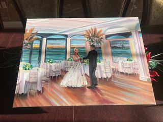 Live Wedding Painting by Mark 1