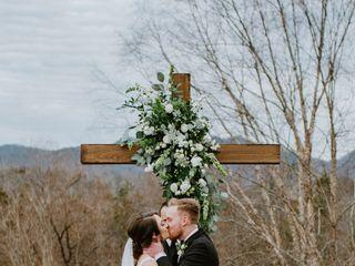 String of Pearls Wedding Flowers 1