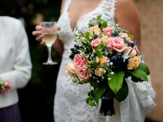 Shades of Pink Wedding Flowers 1