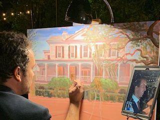 Wed on Canvas, Live Wedding Artist Ben Keys 2