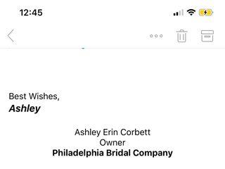 Philadelphia Bridal Company 1