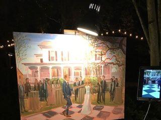 Wed on Canvas, Live Wedding Artist Ben Keys 3