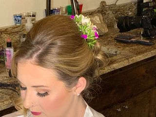 Lily Flower Hair and Makeup 6