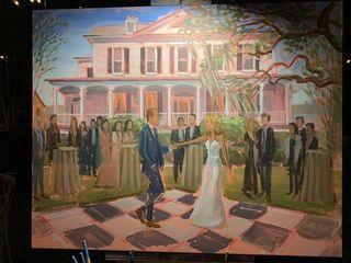 Wed on Canvas, Live Wedding Artist Ben Keys 4