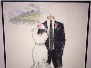 Dreamlines Personalized Wedding Dress Sketch 2
