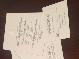 Soiree Signatures Calligraphy and Custom Designed Invitations 1