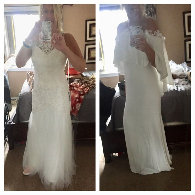 Would you rather...have a dress that looks amazing in person but so-so in pictures, or vice versa? 1