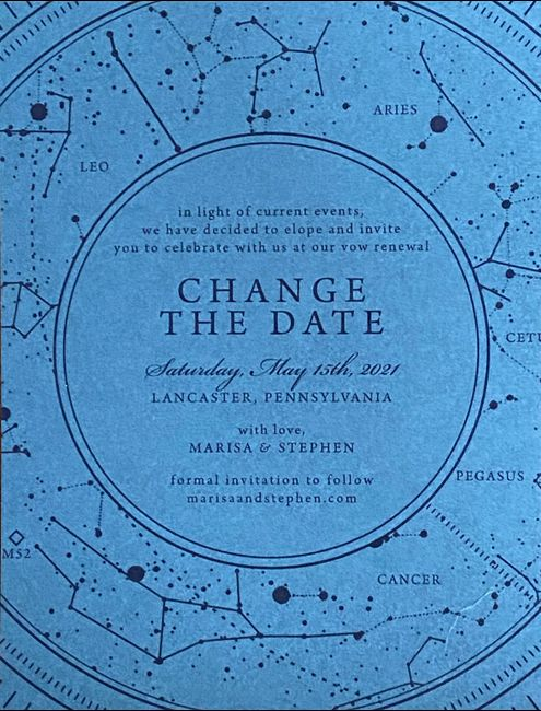 New Invitations for Elopement and Change the Dates for our Vow Renewal 1