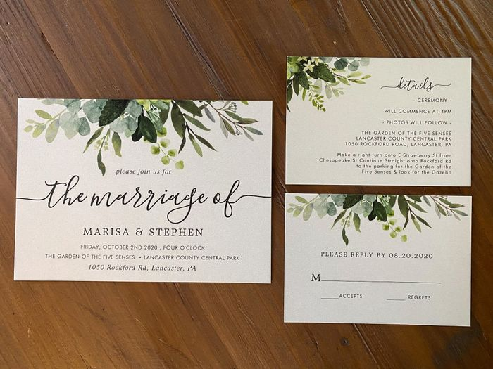 New Invitations for Elopement and Change the Dates for our Vow Renewal 2