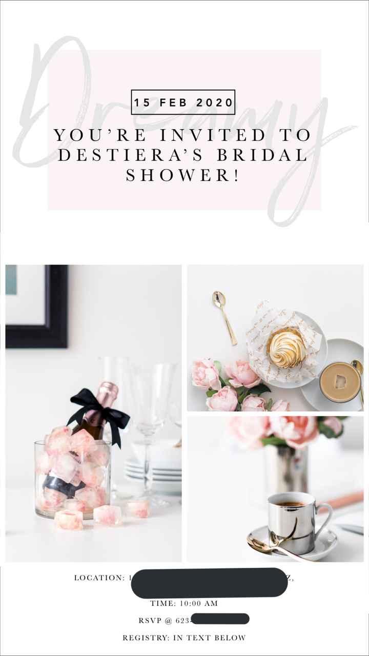Bridal Shower Invites - 1