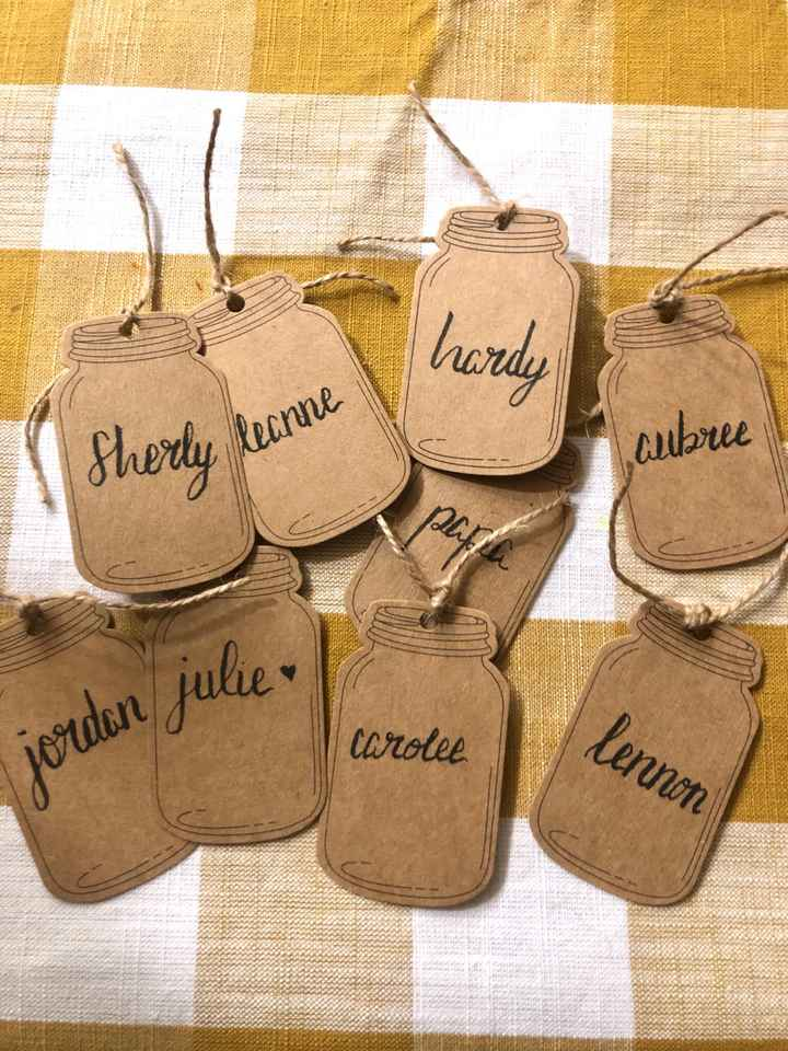 diy Name Cards for Tables! - 1