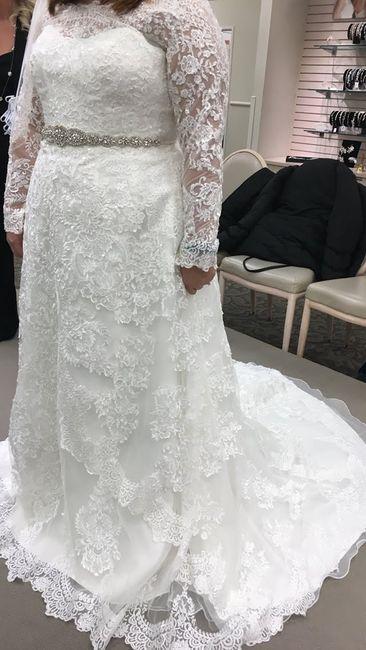 Satin bridesmaids with lace wedding dress? 1