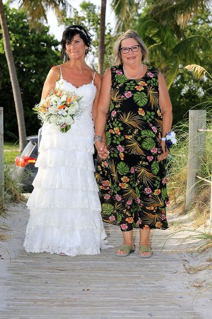 """Walking up the """"aisle"""" at Smathers Beach."""