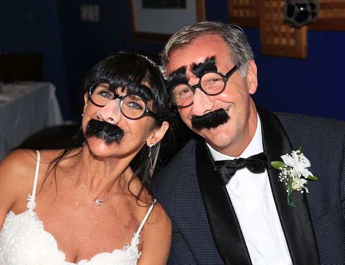 Also obligatory Groucho faces.  Yes, all the guests wore them.  My family is a little quirky.