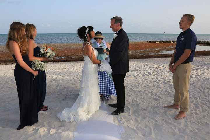The handfasting, with a special appearance by a Great Blue Heron in the background - my spirit anima