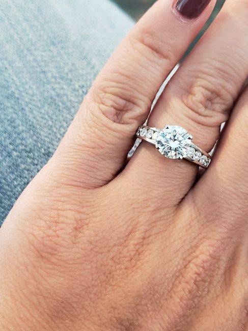 Channel set engagement ring w/ mismatched band? 1