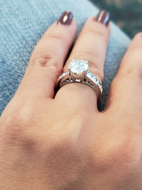 Channel set engagement ring w/ mismatched band? 2