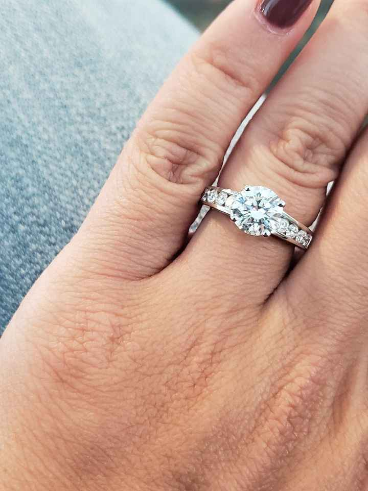Channel set engagement ring w/ mismatched band? - 1