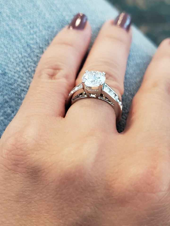Channel set engagement ring w/ mismatched band? - 2
