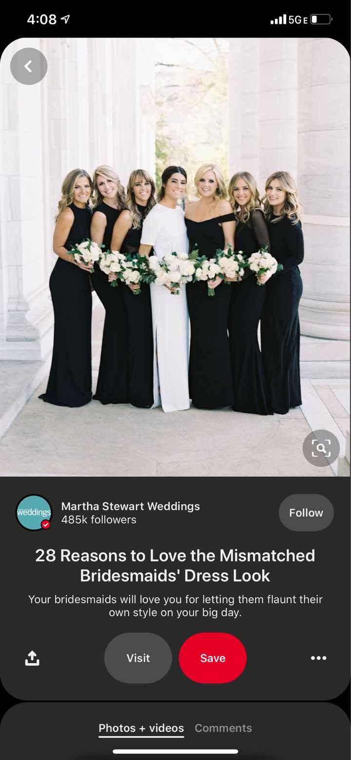 Opinions on black bridesmaids dresses? - 1