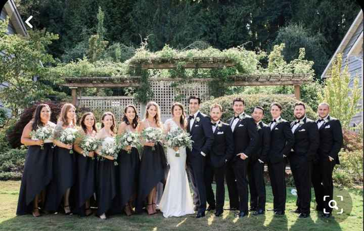 Wedding party in all black? - 1