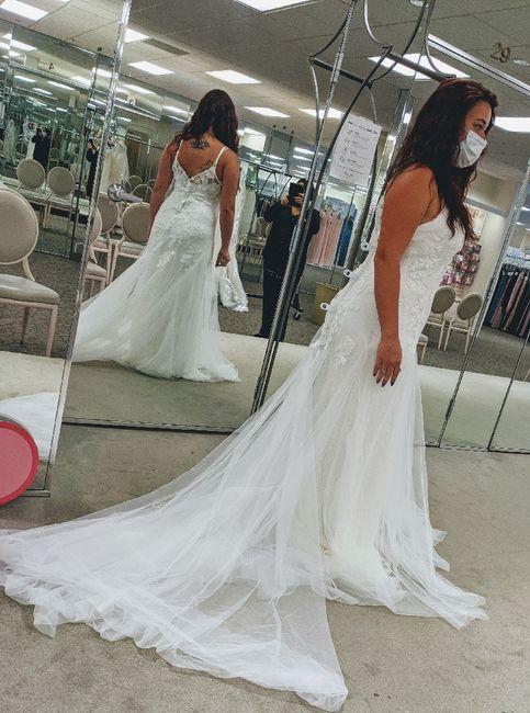 Changing mind on wedding dress 1