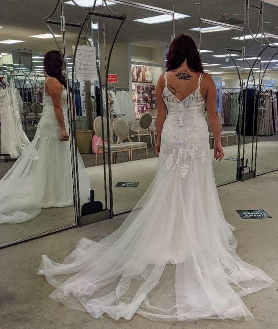 Changing mind on wedding dress 2