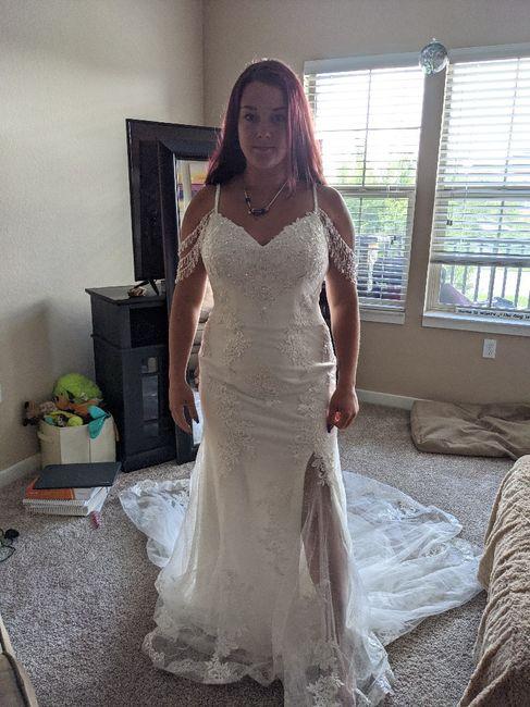 Changing mind on wedding dress 6
