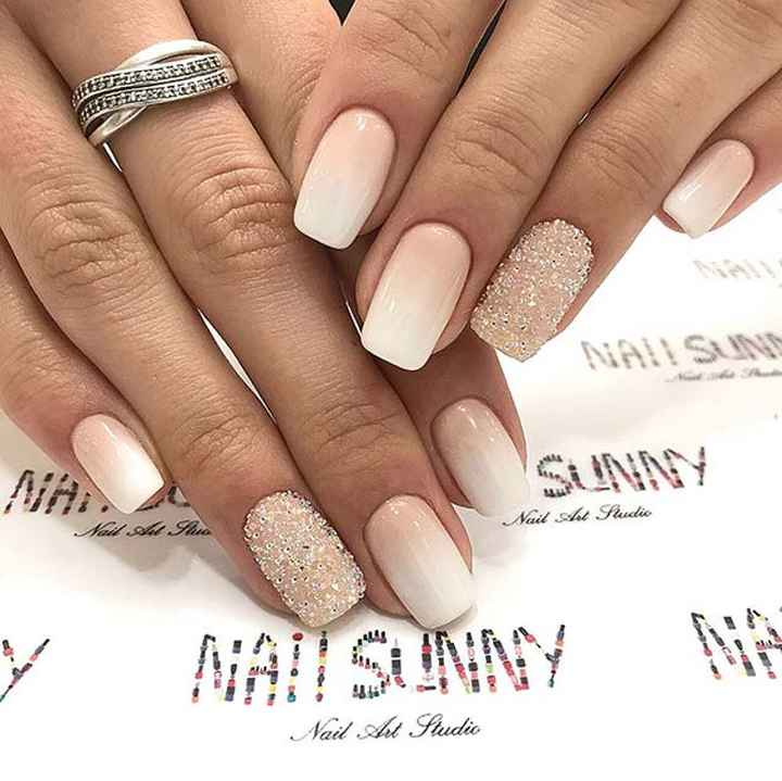 Nails with shimmer
