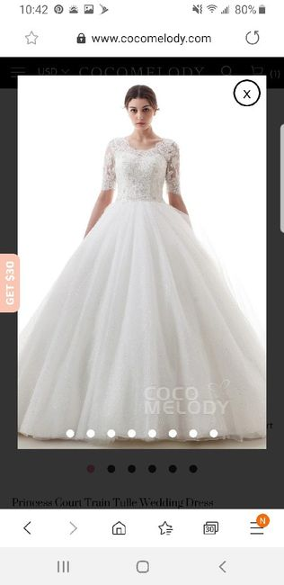 Thoughts on veil with dress 1