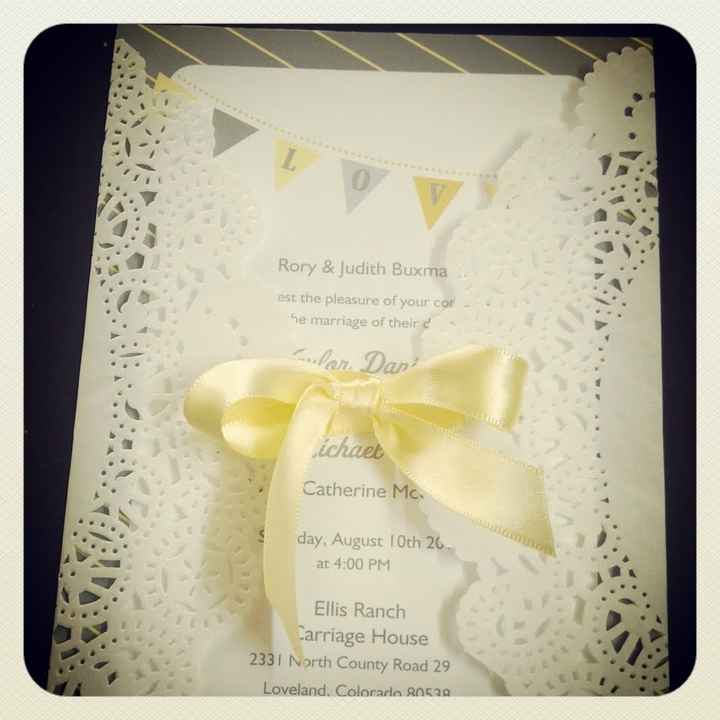 Just ordered my invitations! (It's getting real..) Share photos of your invitations!