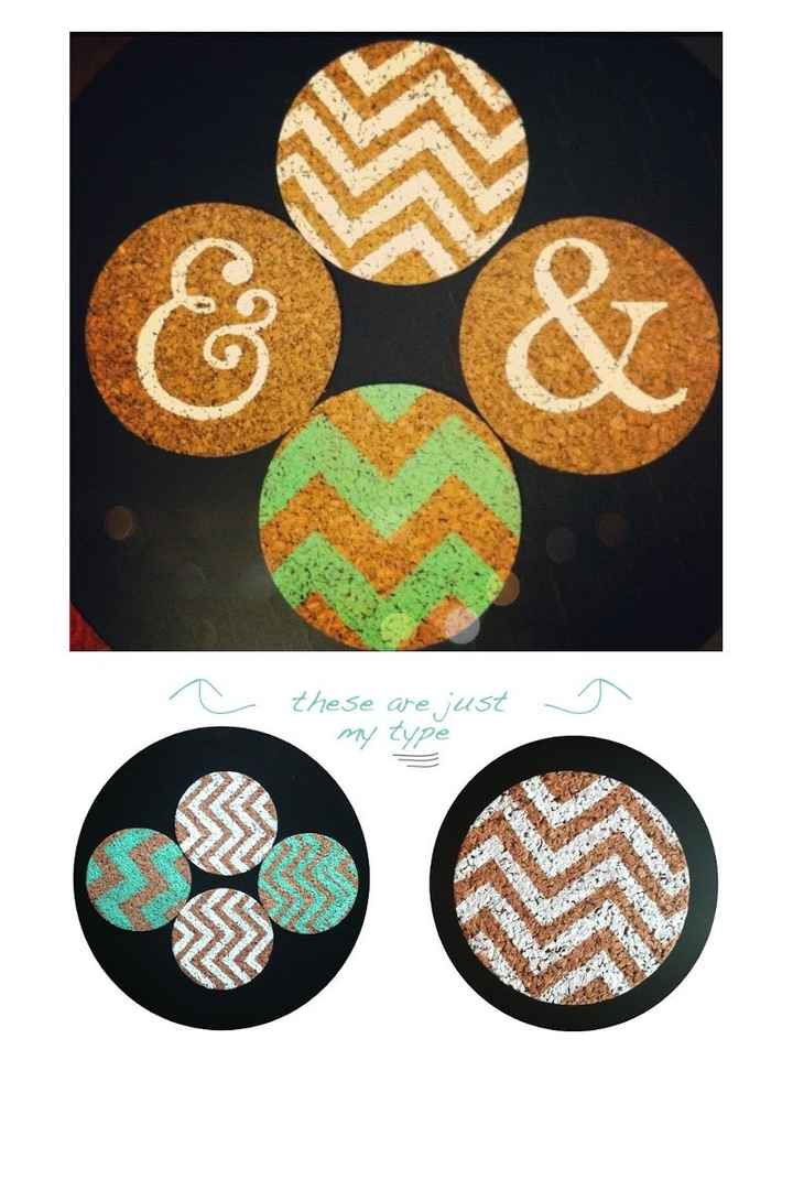 Wedding Favors: Painted Cork Coasters?