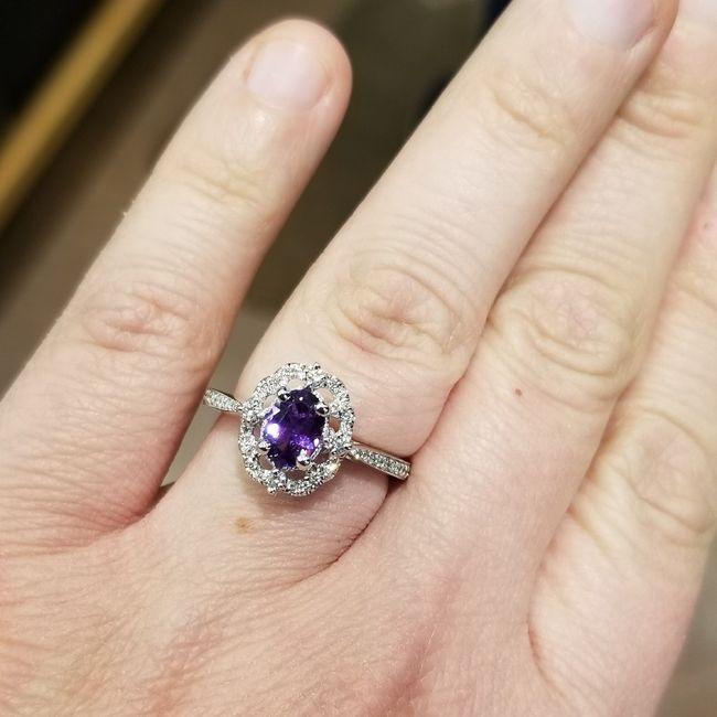 Blue wedding ring 8