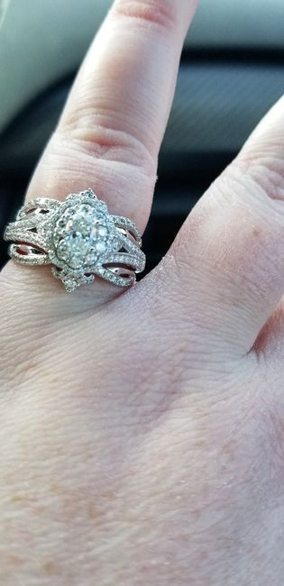 Just got my wedding band! Show yours off ladies! 11