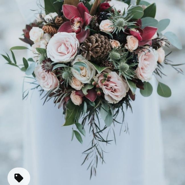 Flower colors for winter wedding - 1