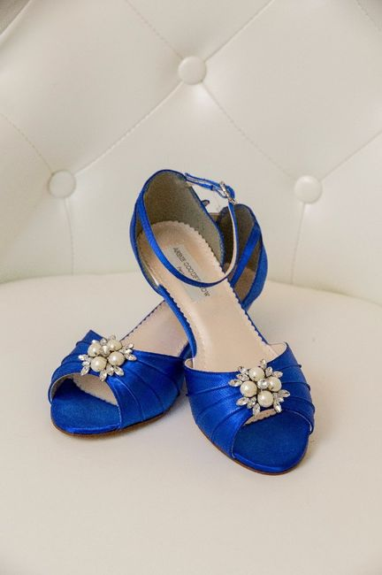 Any colorful or unique shoes you wore under your wedding dress? - 1