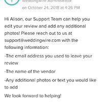 How do i edit a vendor review i posted? - 1
