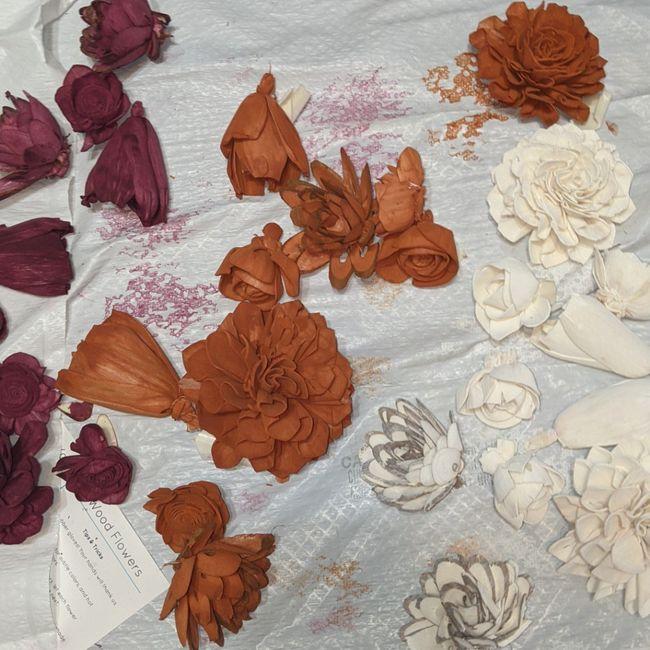 Wooden flowers! - 1