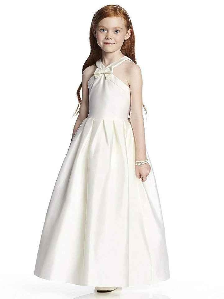Art Deco Junior Bridesmaid Dress - 1