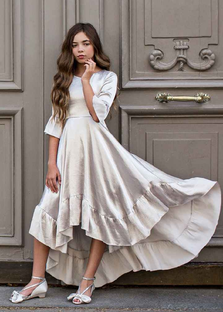 Art Deco Junior Bridesmaid Dress - 2