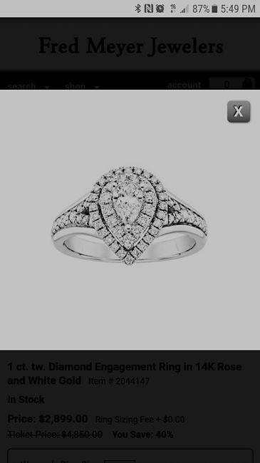 Pear/tear drop shaped rings 2