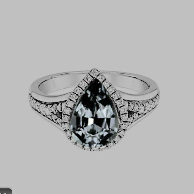 Pear/tear drop shaped rings 3