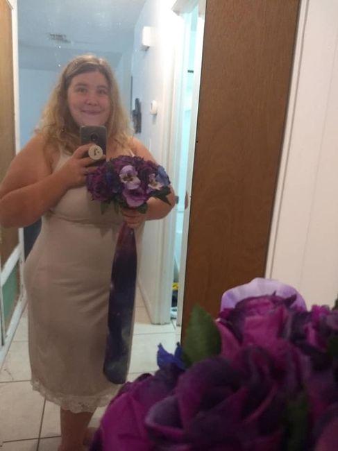 (Not my wedding dress!)