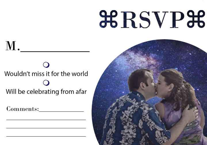 My personal RSVP card