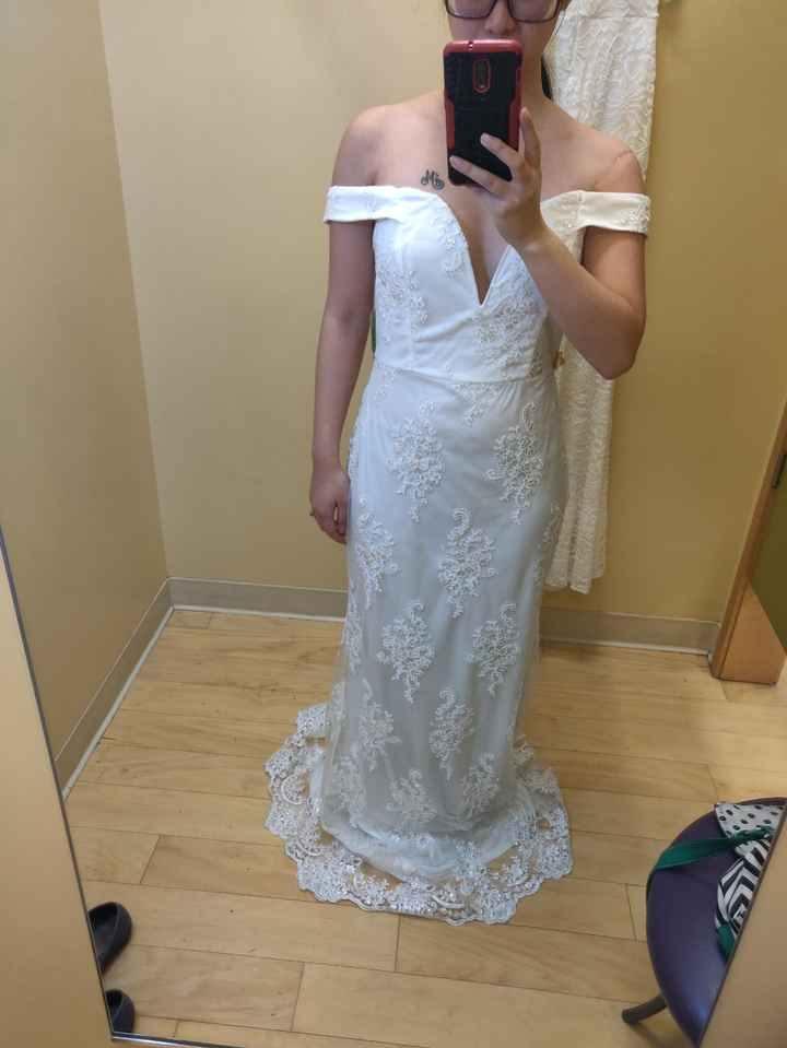 Wedding dress contenders (aka rejects) - 1
