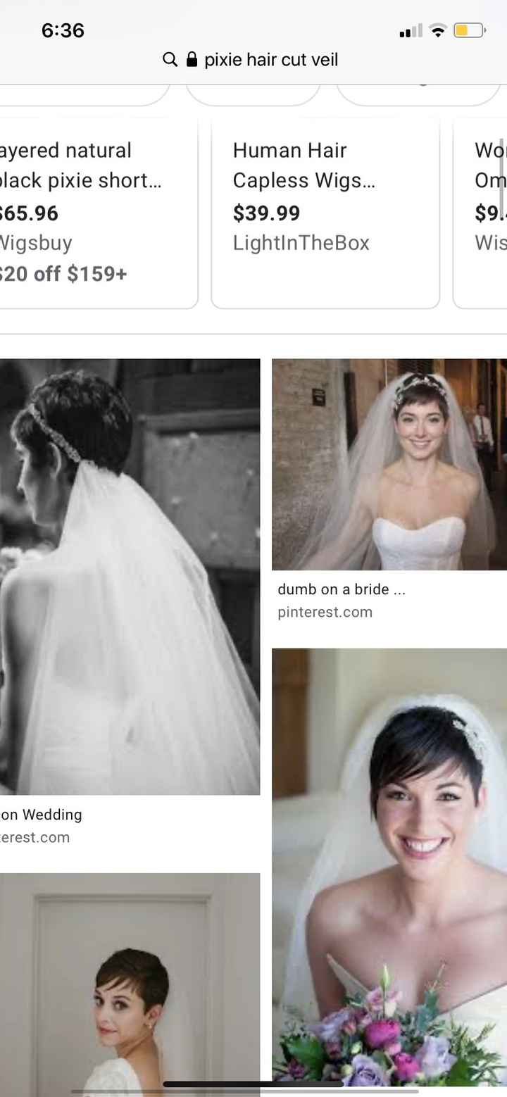 Any ideas for veils for short hair??? - 1