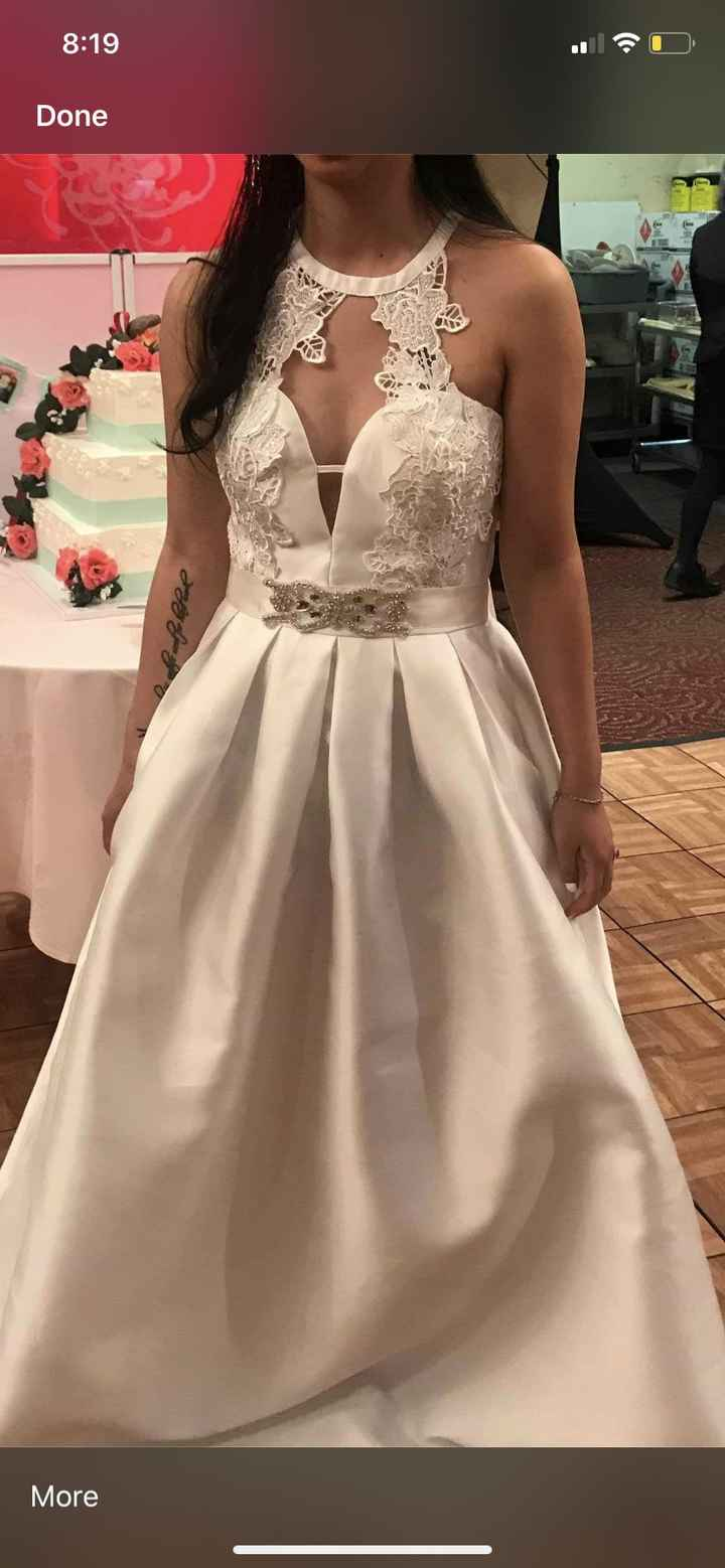 Simple plain/satin-ish wedding gown? Picture!! - 1