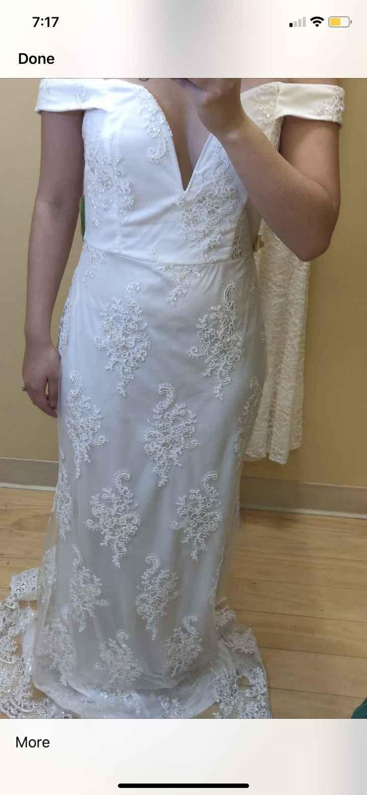 Dress shopping round 1...  show me your no dresses - 1